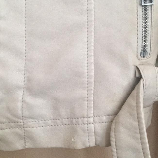 Express off white Leather Jacket Image 2