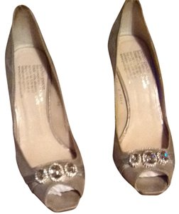 Pedro Garcia Sueded Silver Pumps