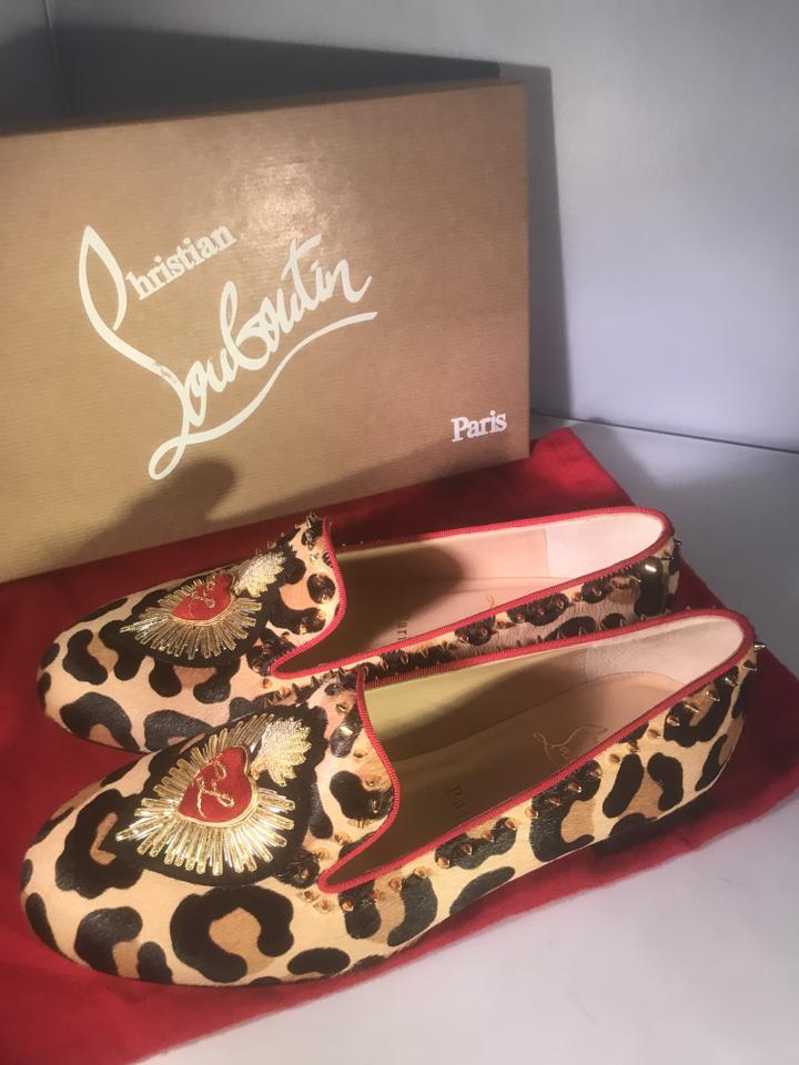 363a70440f4 ... Studded Christian Spike Flats Smoking Mi Loafers Corazon Embroidered  Pony Leopard Louboutin nHwq0R ...