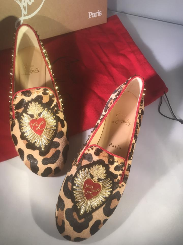 7b493ff5995 Christian Louboutin Embroidered Applique Spike Studded Mi Corazon Leopard  Flats Image 10. 1234567891011