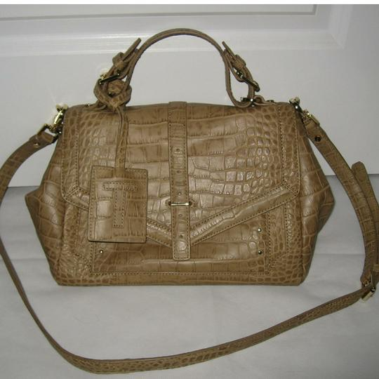 Tory Burch 797 Leather Shoulder Satchel in Tan Image 1