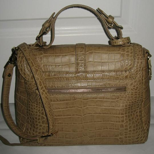 Tory Burch 797 Leather Shoulder Satchel in Tan Image 3