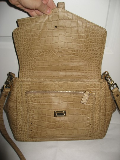 Tory Burch 797 Leather Shoulder Satchel in Tan Image 4