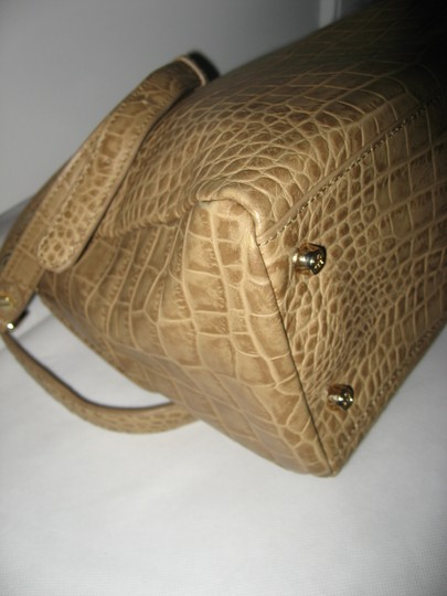 Tory Burch 797 Leather Shoulder Satchel in Tan Image 7
