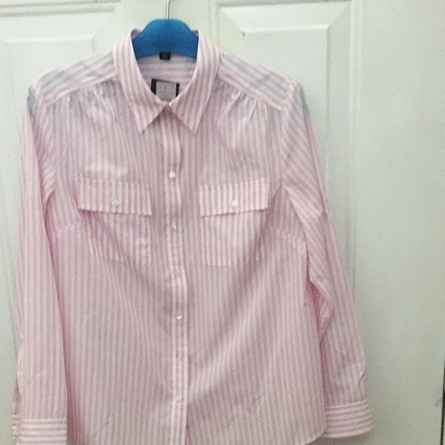 Ann Taylor Top Pink And White