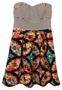 Xhilaration short dress Striped and Floral Sweet Bustier A-line on Tradesy
