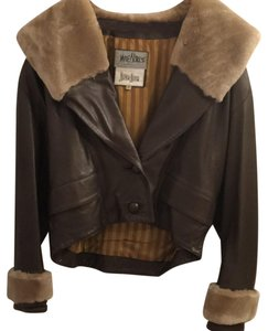 Jane Norris Newman Marcus Brown Leather Jacket