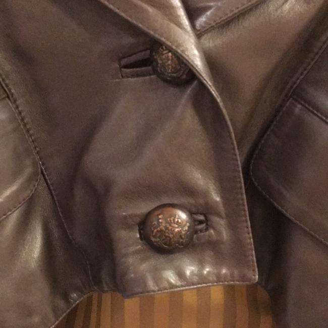 Jane Norris Newman Marcus Brown Leather Jacket Image 2
