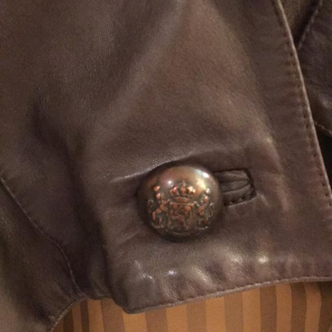 Jane Norris Newman Marcus Brown Leather Jacket Image 6