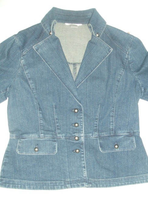 Nine West Womens Jean Jacket Image 1