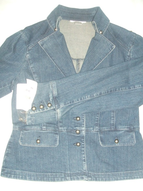 Nine West Womens Jean Jacket Image 4