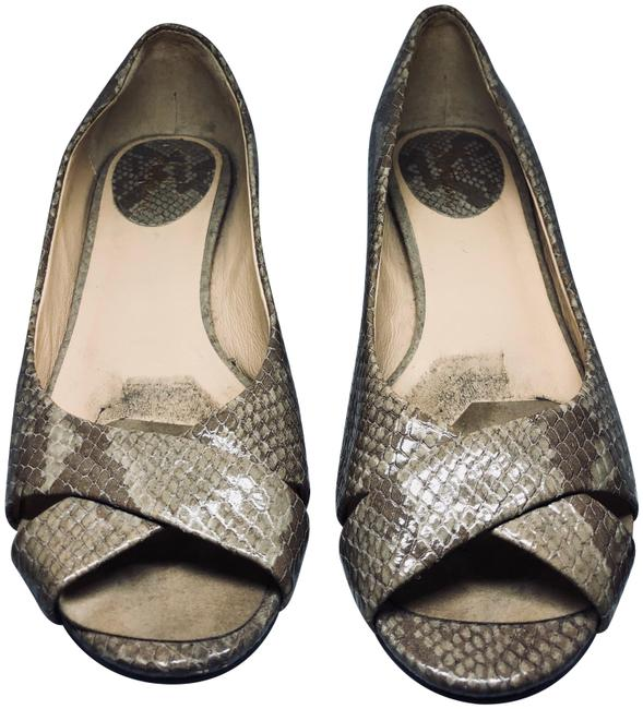 Cole Haan Beige Snakeskin Flats Wedges Size US 7.5 Regular (M, B) Cole Haan Beige Snakeskin Flats Wedges Size US 7.5 Regular (M, B) Image 1