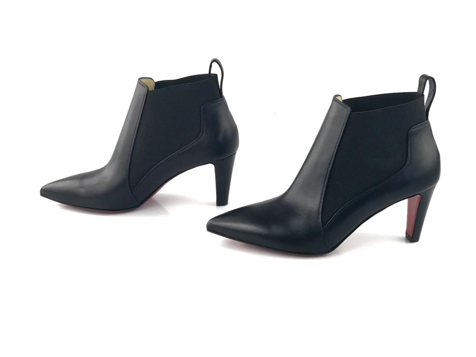 Heels Louboutin Pull Cuoio Black Calf Booties on Christian Leather Point toe 70mm Verafusa Classic Boots fvqdnxCw7