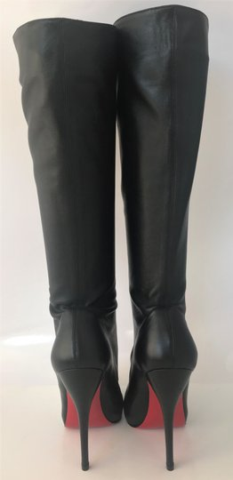Christian Louboutin Thigh High Over The Knee Ankle Black Silver Buttons Boots Image 6
