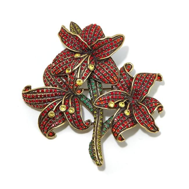 Item - Red Alluring Amaryllis Crystal Pin