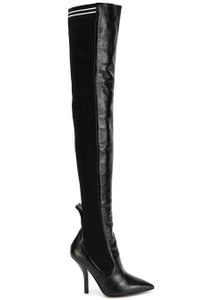 Fendi Rockoko Thigh High Otk Over The Knee black Boots