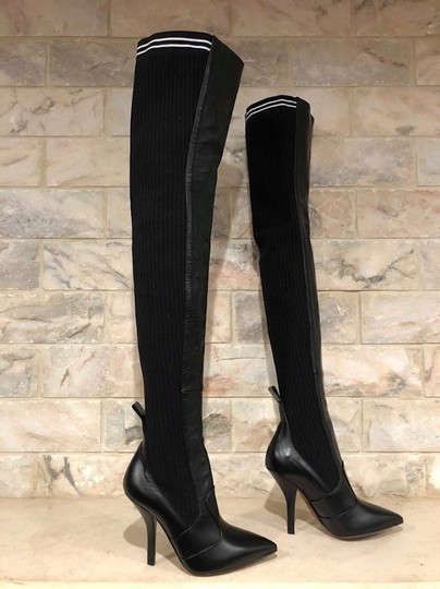 Fendi Rockoko Thigh High Otk Over The Knee black Boots Image 3