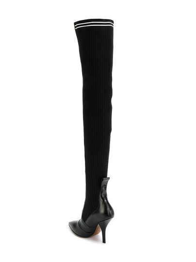 Fendi Rockoko Thigh High Otk Over The Knee black Boots Image 8