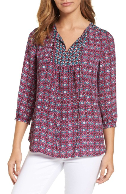 KUT from the Kloth New Berry Maci Floral Blouse Size 8 (M) KUT from the Kloth New Berry Maci Floral Blouse Size 8 (M) Image 1