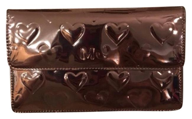 Marc Jacobs Mirror Heart Embossed Grey Silver Patent Shoulder Bag Marc Jacobs Mirror Heart Embossed Grey Silver Patent Shoulder Bag Image 1