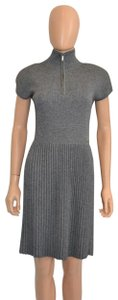 grey Maxi Dress by Chanel Sweater Cashmere Cap Sleeve Cc