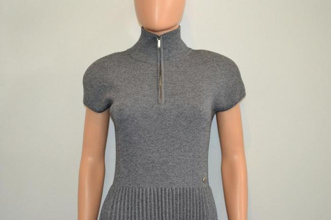 grey Maxi Dress by Chanel Sweater Cashmere Cap Sleeve Cc Image 1