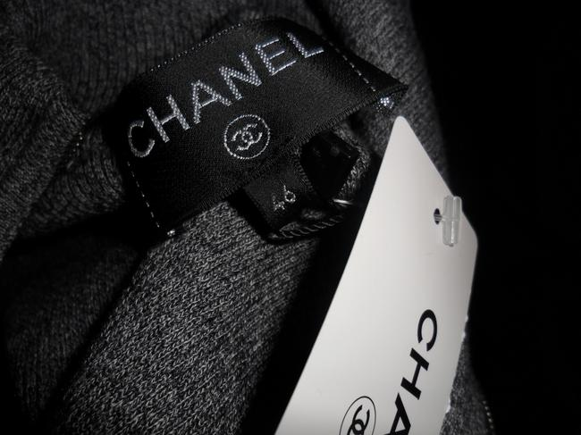 grey Maxi Dress by Chanel Sweater Cashmere Cap Sleeve Cc Image 11