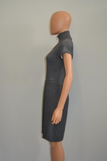 grey Maxi Dress by Chanel Sweater Cashmere Cap Sleeve Cc Image 4