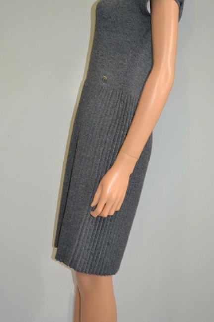 grey Maxi Dress by Chanel Sweater Cashmere Cap Sleeve Cc Image 6
