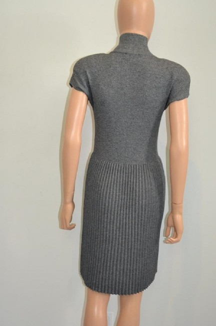 grey Maxi Dress by Chanel Sweater Cashmere Cap Sleeve Cc Image 8