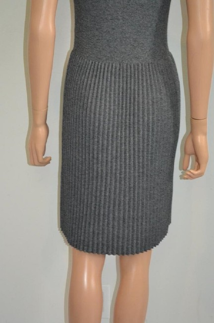 grey Maxi Dress by Chanel Sweater Cashmere Cap Sleeve Cc Image 9
