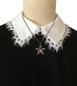 Chanel Pink Crystal Star with CC Logo Metal Pendant