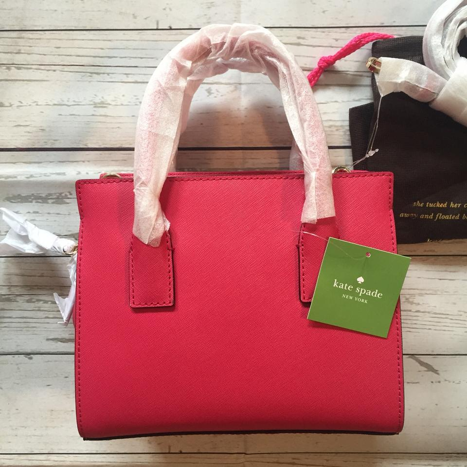 f01345ff11ce74 Kate Spade Cameron Street Mini Candace Satchel in Punch Pink Image 9.  12345678910