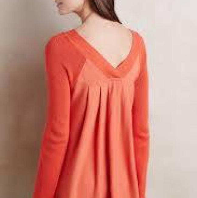 Anthropologie Knitted And Knotted Double V Oversized Sweater Image 1