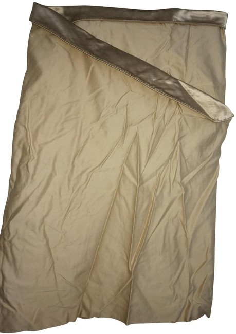 Alexander McQueen Beige Silk And Skirt Size 10 (M, 31) Alexander McQueen Beige Silk And Skirt Size 10 (M, 31) Image 1