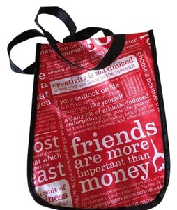 Lululemon Tote in Black red and white