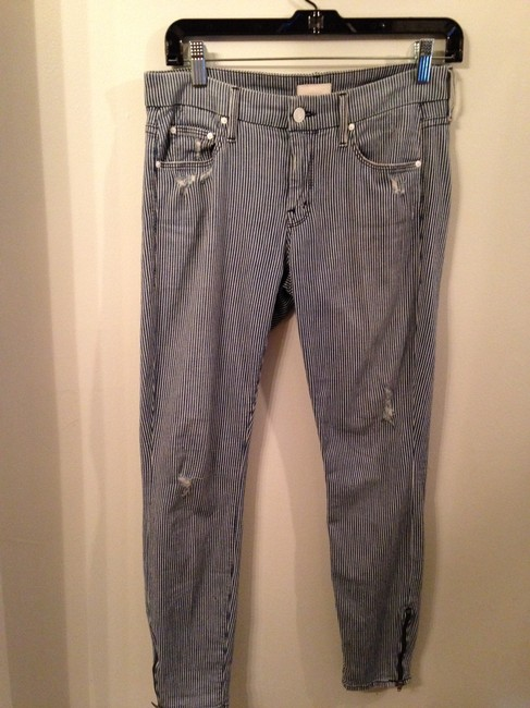 Mother Distressed Cotton Stretch Capri/Cropped Denim-Distressed Image 3