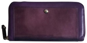 Tod's Plum Patent Leather Zip Wallet
