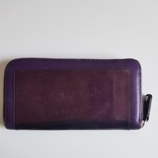Tod's Plum Patent Leather Zip Wallet Image 1