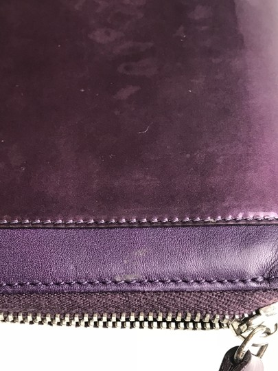 Tod's Plum Patent Leather Zip Wallet Image 11
