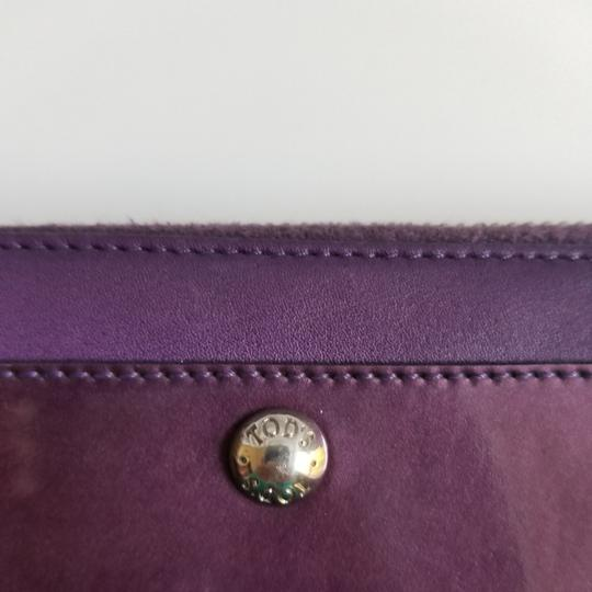 Tod's Plum Patent Leather Zip Wallet Image 3