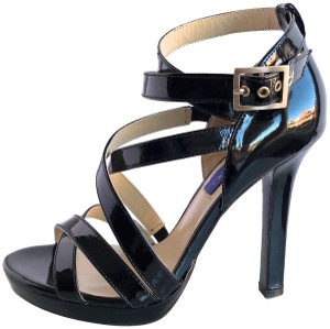 Jimmy Choo Limited Edition Sandal Leather Patent Party Black Pumps