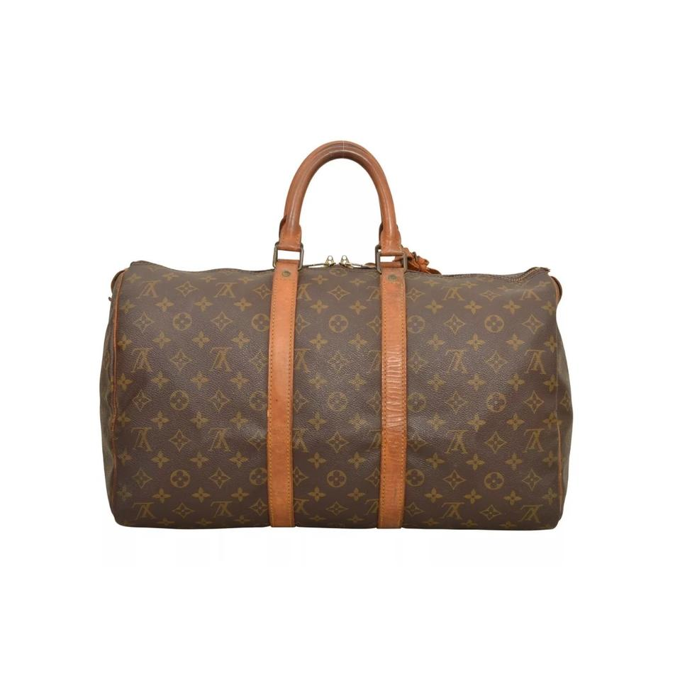 louis vuitton keepall 45 weekend travel bag tradesy. Black Bedroom Furniture Sets. Home Design Ideas