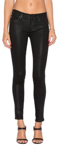 Hudson Coated Stretch Leather Look Skinny Jeans-Coated