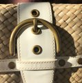 Coach White Patent and Natural Leather Clutch Coach White Patent and Natural Leather Clutch Image 8