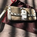 Coach White Patent and Natural Leather Clutch Coach White Patent and Natural Leather Clutch Image 9