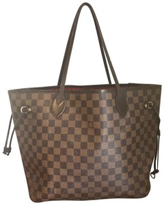 Louis Vuitton Neverfull Damier Canvas Tote in Brown