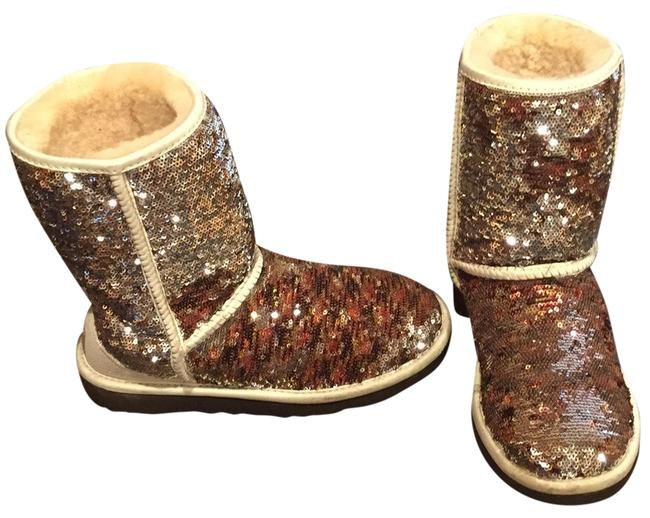 UGG Australia Champagne Two Tone Sequins Classic Boots/Booties Size US 6 Regular (M, B) UGG Australia Champagne Two Tone Sequins Classic Boots/Booties Size US 6 Regular (M, B) Image 1