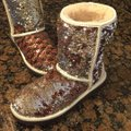 UGG Australia Champagne Two Tone Sequins Classic Boots/Booties Size US 6 Regular (M, B) UGG Australia Champagne Two Tone Sequins Classic Boots/Booties Size US 6 Regular (M, B) Image 2