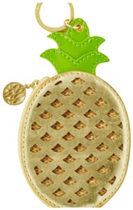 Lilly Pulitzer Pineapple Coin Purse in Gold Metallic